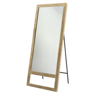 Jamie Young Austere Leaning Floor Mirror - Grey Washed Wood
