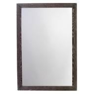 Jamie Young Austere Simple Rectangle Mirror - Dark Grey Wood