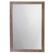 Jamie Young Austere Simple Rectangle Mirror - Grey Washed Wood
