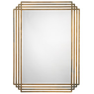 Jamie Young Serai Mirror - Antique Brass Patina Metal