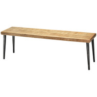 Jamie Young Farmhouse Bench - Natural Wood & Black Iron