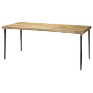 Jamie Young Farmhouse Dining Table - Natural Wood & Black Iron