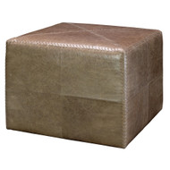 Jamie Young Ottoman - Large - Taupe Leather