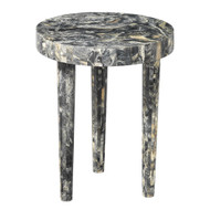 Jamie Young Artemis Side Table - Large - Black Resin