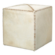 Jamie Young Ottoman - Small - White Hide