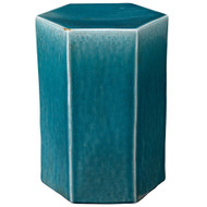 Jamie Young Porto Side Table - Small - Blue Ceramic