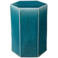 Jamie Young Porto Side Table - Large - Blue Ceramic