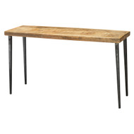 Jamie Young Farmhouse Console Table - Natural Wood & Black Iron