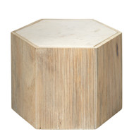 Jamie Young Argan Hexagon Table - Medium