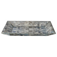 Jamie Young Slate Blue Faux Agate Tray