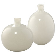 Jamie Young Minx Decorative Vases - Set of 2 - White Blown Glass