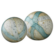 Jamie Young Cosmos Glass Bal- Set of 2 - Pale Blue Glass