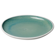 Jamie Young Santorini Low Rim Bowl - Large - Ocean Ombre Reactive Glaze Ceramic