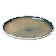 Jamie Young Santorini Low Rim Bowl - Large - Sand Ombre Reactive Glaze Ceramic