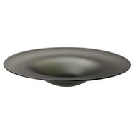 Jamie Young Cordelia Hand Blown Glass Plate - Matte Grey Glass
