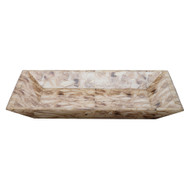 Jamie Young Cream Faux Agate Tray