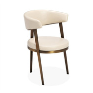 Interlude Home Adele Dining Chair - Cream (Store)