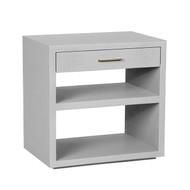 Interlude Home Livia Bedside Chest - Light Grey (Store)