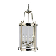 Robert Abbey Blake Pendant - 14 in - Polished Nickel - 4 Clear Glass Shade (Store)