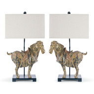 Regina Andrew Pair of Dynasty Horse Table Lamps (Store)
