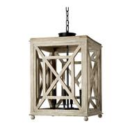 Regina Andrew Wood Lattice Lantern Chandelier (Store)