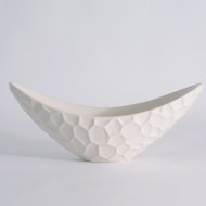 Studio A Honeycomb Long Bowl - Matte White (Store)