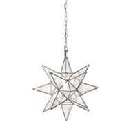 Worlds Away Small Clear Star Chandelier (Store)
