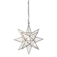 Worlds Away Medium Clear Star Chandelier (Store)