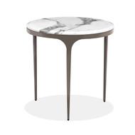 Interlude Home Camilla Side Table - Arabescato (Store)