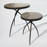 Studio A Tripod Table w/Grey Marble Top - Sm (Store)