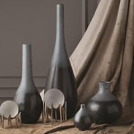 Studio A Eggshell Vase - Grey/Blue - Sm (Store)