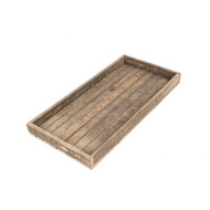 Zentique Reclaimed Wood Tray - Square (Store)
