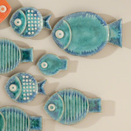 Global Views Blue Fish Plate - Smst (Store)