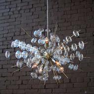 Solaria Bubbles Chandelier - Antique Brass (Store)