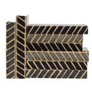 E Lawrence Black And Gray Chevron/Herringbone Vertical Batik (Store)