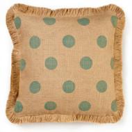 Zentique Blue Dot Burlap Pillow (Store)
