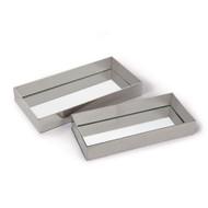 Regina Andrew Rectangle Metal Tray Set - Polished Nickel (Store)