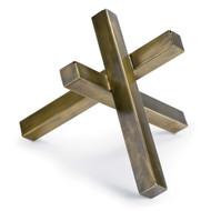 Regina Andrew Intersecting Sculpture - Brass (Store)
