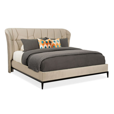 Caracole Vector Upholstered King Bed