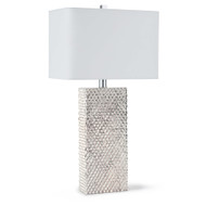 Studded Platinum Column Table Lamp