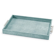 Shagreen Rectangle Tray - Turquoise
