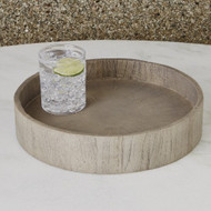 Studio A Driftwood Round Tray (Store)