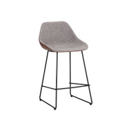 Sun Pan Mccoy Counter Stool - November Grey / Cinnamon Brown (Store)