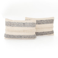 Four Hands Textured Stripe Pillow - Set of 2 (Store)