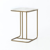 Four Hands Adalley C Table - Polished White Marble