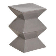 Zigzag Stool - Gray