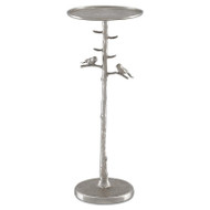 Currey & Co Piaf Silver Drinks Table (Store)