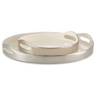 Currey & Co Riya White Tray Set of 2 (Store)