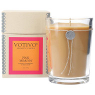 Votivo 16.2 oz Aromatic Large Candle Pink Mimosa