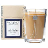 Votivo 16.2 oz Aromatic Large Candle Clean Crisp White